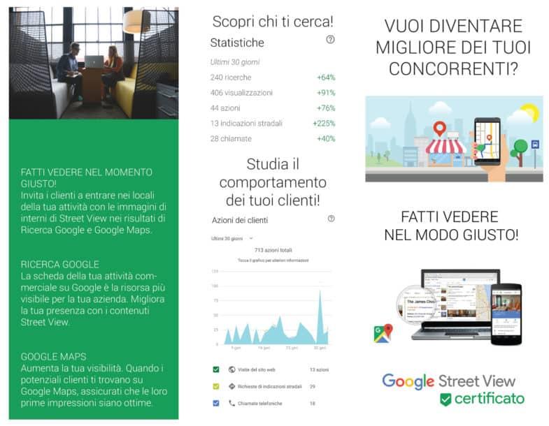 Flyer Google Street View, Google Maps, Google Business Gianluca Bertoncelli